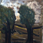 Fritz Ascher, Two Trees in the Wind, 1961. Oil on canvas, 39.4 x 31.5 in. Private collection